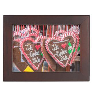I Love You Gingerbread Hearts At The Holiday Keepsake Box