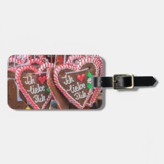 I Love You Gingerbread Hearts At The Holiday Luggage Tag