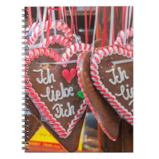 I Love You Gingerbread Hearts At The Holiday Notebook