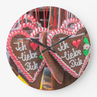 I Love You Gingerbread Hearts At The Holiday Wall Clocks