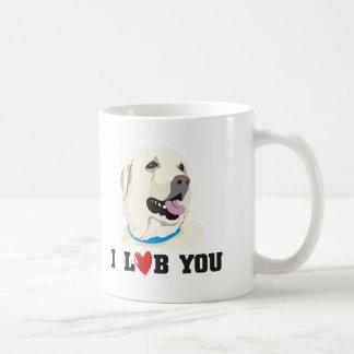 I Love You Golden Labrador Retriever Theme Basic White Mug