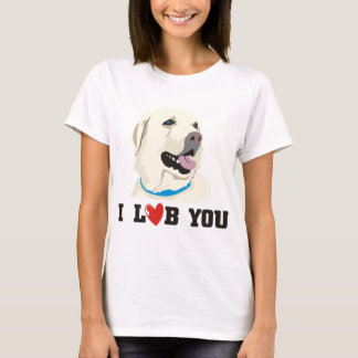 I Love You Golden Labrador Retriever Theme T-Shirt