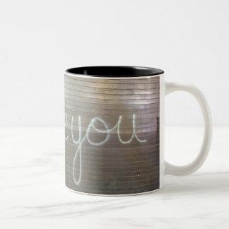 I Love You Graffiti Two-Tone Mug