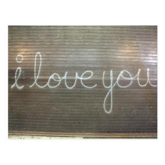 I Love You Graffiti Post Cards
