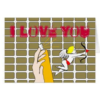 I LOVE YOU Graffiti Valentine's Card