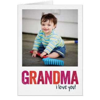 I Love You, Grandma! Card