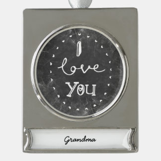 I Love you Grandma custom chalk Ornament