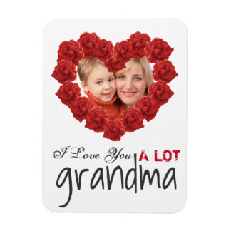 I love you grandma roses custom photo Magnet