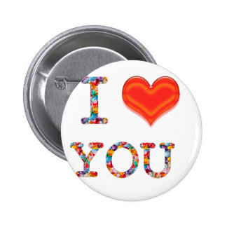 I LOVE YOU :  Great Positive SCRIPT    lowprice gi 6 Cm Round Badge