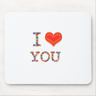 I LOVE YOU Great Positive SCRIPT lowprice gi Mousepad