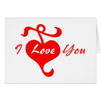 I Love You Greeting Card by Janz