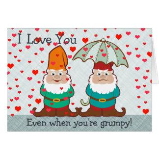 I Love You Grumpy Gnome Greeting Card