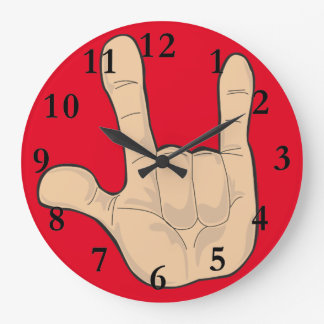 I LOVE YOU HAND GESTURE CLOCKS
