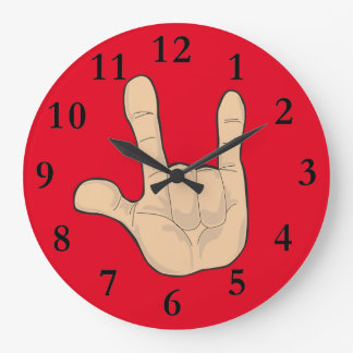 I LOVE YOU HAND GESTURE WALL CLOCKS