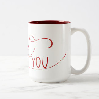 """I Love You"" Hand Lettered Mug"