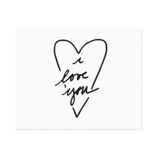 i love you Heart Canvas Prints