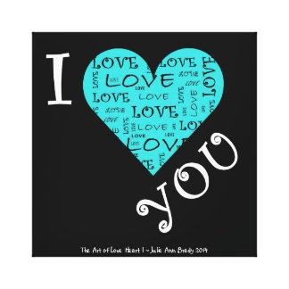 I Love YOU Heart I Canvas Print
