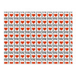 I love you - heart postcards