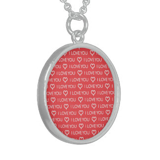 I Love You Heart red token of love necklace