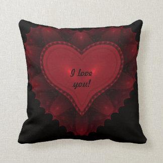 I Love You-Heart Throw Pillow Throw Cushions
