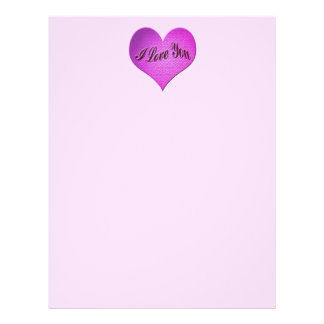 I love You heart Valentines 21.5 Cm X 28 Cm Flyer