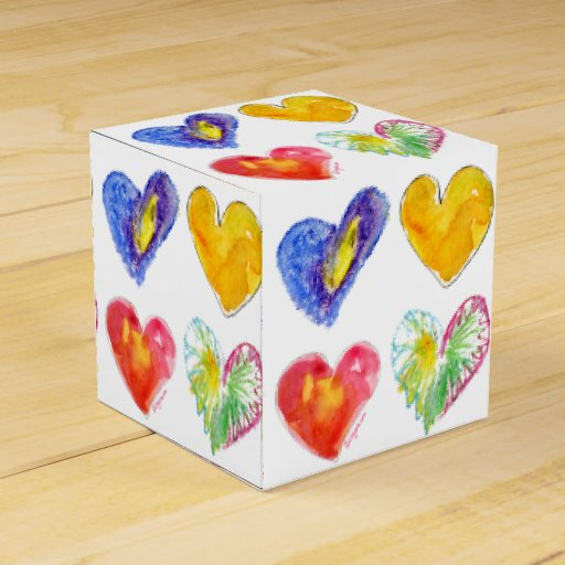 I Love You Hearts 3 Paper Box Wedding Favor Boxes