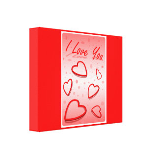 """""""I LOVE YOU"""" HEARTS GALLERY WRAPPED CANVAS"""
