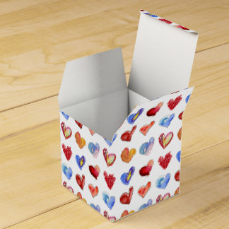 I Love You Hearts White Paper Box Party Favor Box