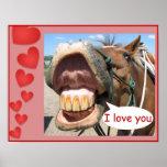 """I Love You"" Horse Print Customisable"