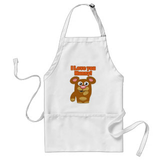 I Love you Hunny Standard Apron