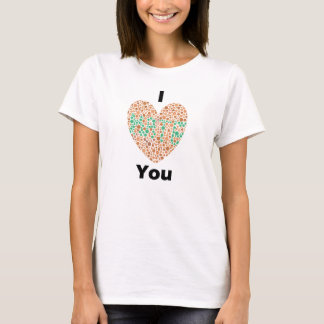 I Love You I Hate You Color Blind T-Shirt