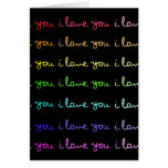 i love you i love you i love you card
