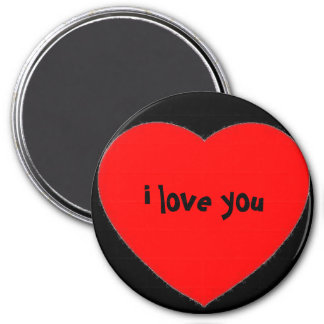 """i love you"" in a heart magnet"