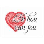 I love you in Dutch - Ik hou van jou Postcard