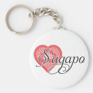 I love you in Greek - S'agapo Key Ring
