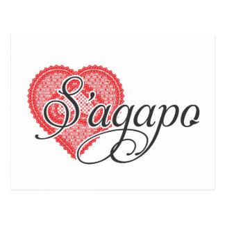 I love you in Greek - S'agapo Post Cards
