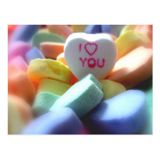 I Love You, in Heart Candy Postcard