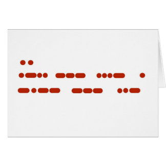 """I Love You"" in Morse Code Note or Greeting Card"