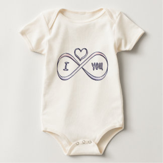 I love you infinitely baby bodysuit