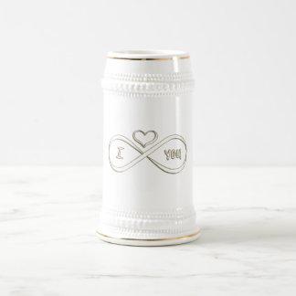I love you infinitely beer stein