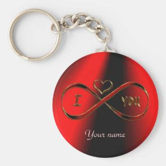 I love you infinitely key ring
