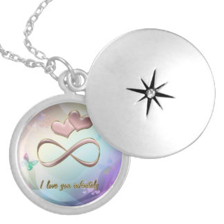 I love you infinitely locket necklace