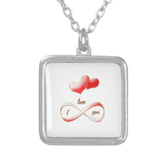 I love you infinitely necklace