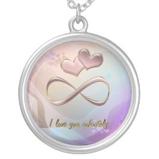 I love you infinitely silver plated necklace