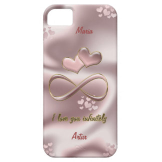 I love you infinitely. Stylish pearl pink Barely There iPhone 5 Case