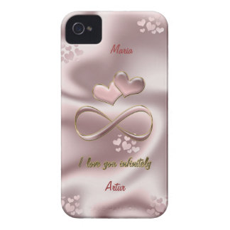 I love you infinitely. Stylish pearl pink iPhone 4 Cover