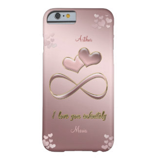 I love you infinitely Valentine's Day  pink Barely There iPhone 6 Case