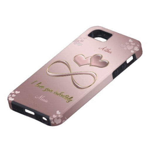 I love you infinitely Valentine's Day  pink iPhone 5 Cases