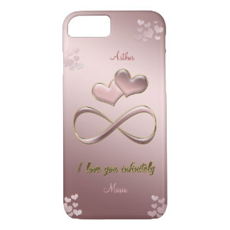 I love you infinitely Valentine's Day  pink iPhone 8/7 Case