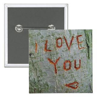 I love you inscription button
